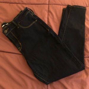 Old Navy Dark Wash Rockstar Super Skinny Jeans